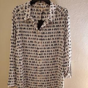 Jane and Delancey button blouse